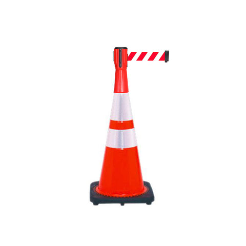 Bundle of Reflective 28 inch Traffic Cone + 10ft ConePro500 (RW Belt)