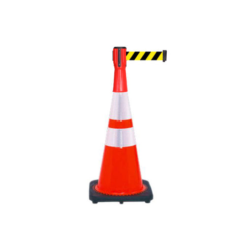 Bundle of Reflective 28 inch Traffic Cone + 10ft ConePro500 (YB Belt)
