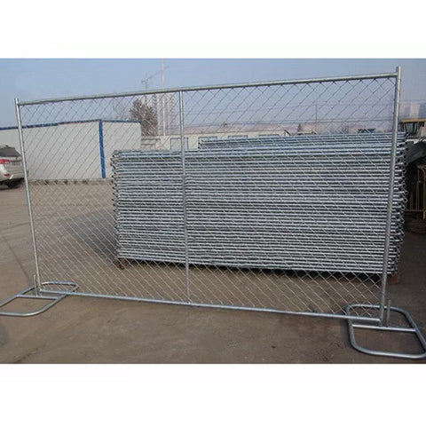 Galvanized Temporary Chain Link Fence , Welded Wire Fence For Construction Site