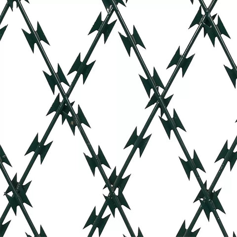 Stainless Steel Galvanized Barbed Wire , Easy Maintenance Razor Wire Mesh