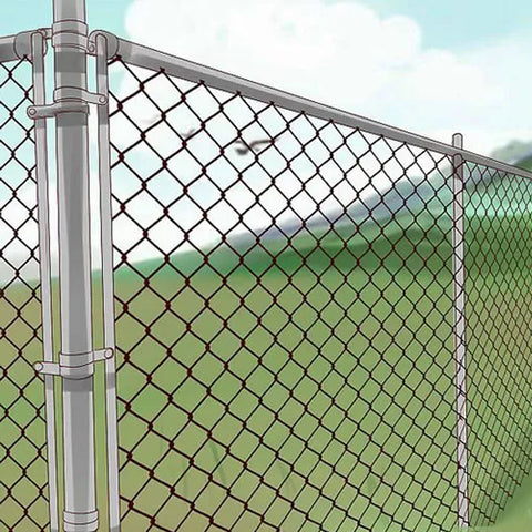 PVC Coated Chain Link Security Fence Quickly Installation Long Serve Life