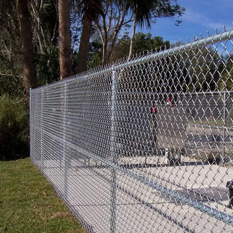 Diamond Pattern Chain Link Security Fence / Durable Hurricane Fence Panels