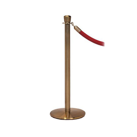 Elegance: English Antique Rope Stanchion With Profile Base