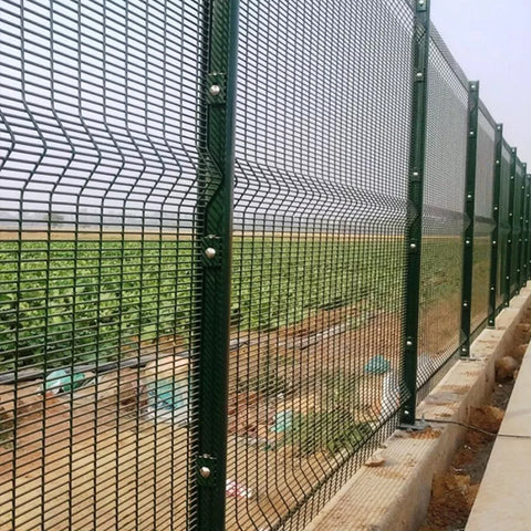 Anti Corrosion 358 Anti Climb Mesh Fencing , Galvanized Security Fence For Airport