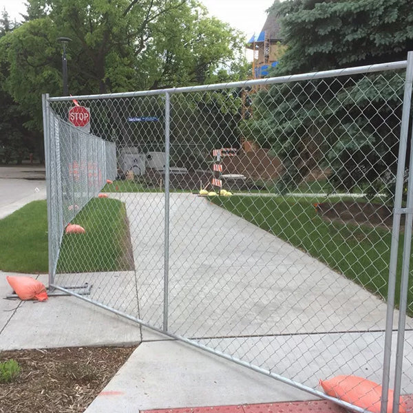 Welded Wire Temporary Security Fencing For Construction Site Hot Dipped Galvanized Type