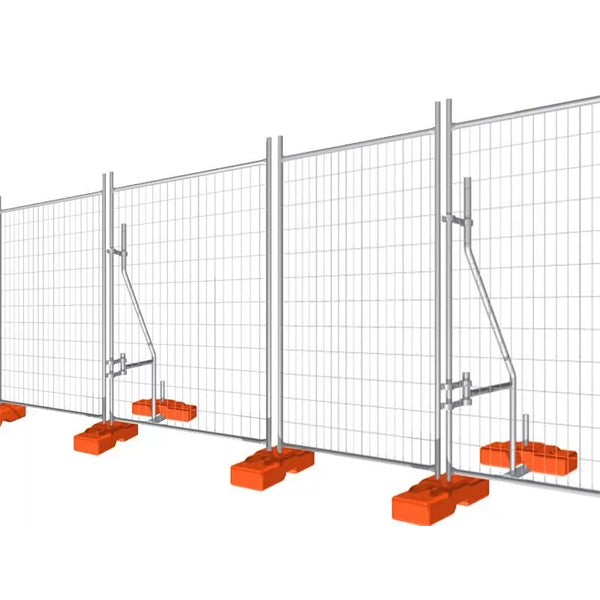 Standard Size Temporary Security Fencing Portable Easily Assembled Eco Friendly