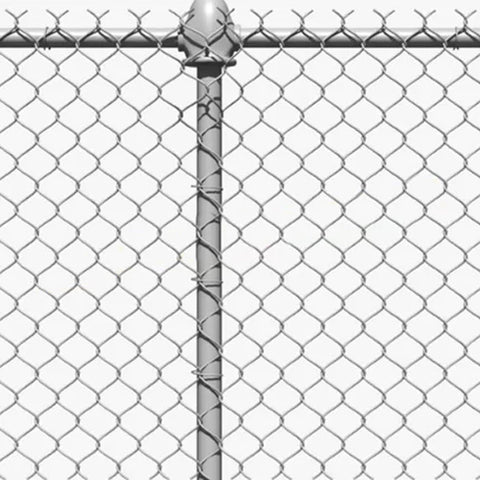 Galvanized Chain Link Trellis , Easily Assembled Pvc Coated Chain Link Mesh