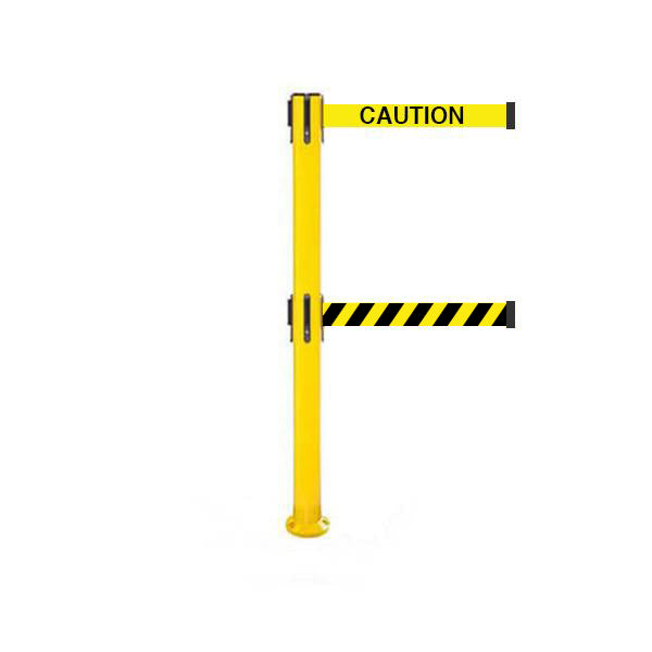 SafetyPro 250 Fixed Twin: 11-13ft Premium Safety Retractable Belt Barrier