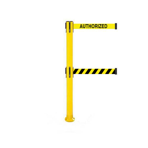 SafetyPro 300 Fixed Twin: 16ft Premium Safety Retractable Belt Barrier