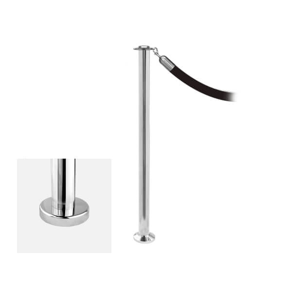 Elegance Fixed: Premium Flat Top Rope Stanchion