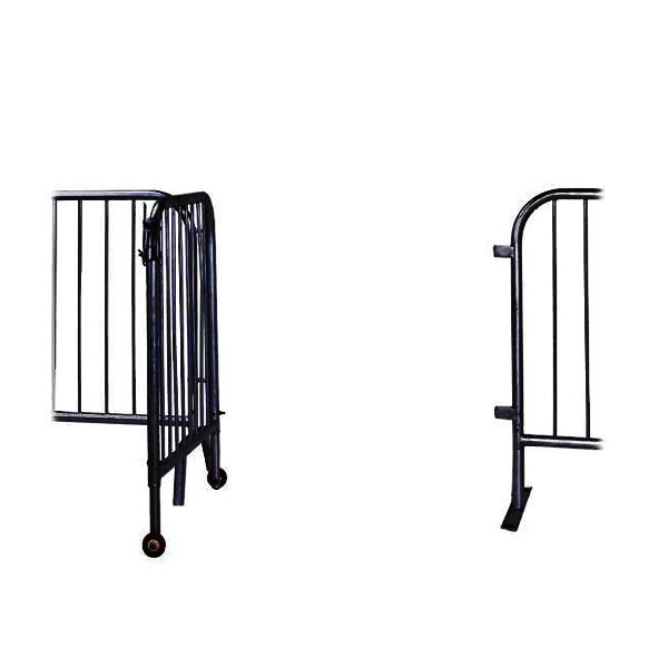 Black 3ft Steel Pedestrian Barricade Gate