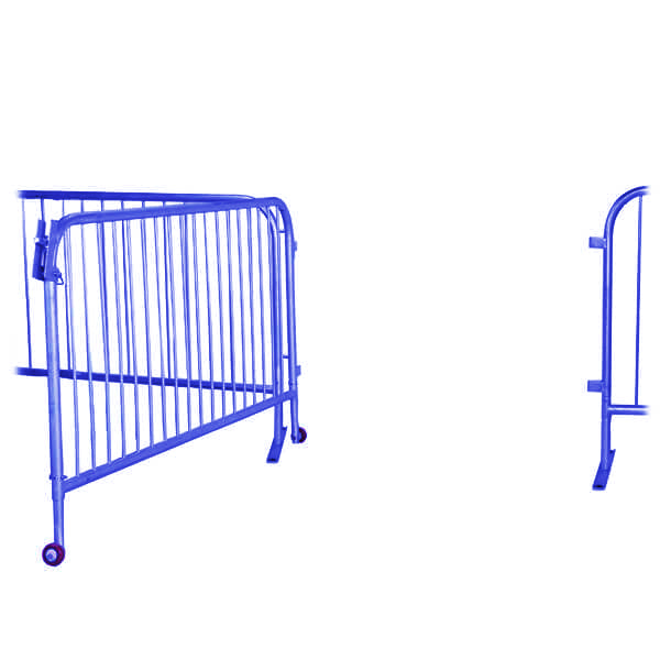 Blue 6.5ft Steel Large Barricade Gate