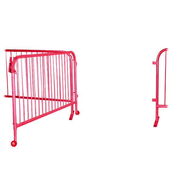 Red 6.5ft Steel Large Barricade Gate