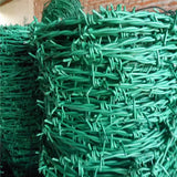 Durable PVC Coated Barbed Wire , Bob Wire Fence Anti Corrosion Easy Maintenance