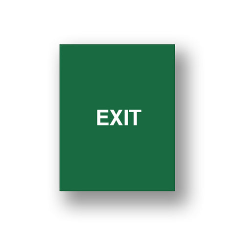 Green Exit/Exit Please Do Not Enter (Double Sided Sign Insert)