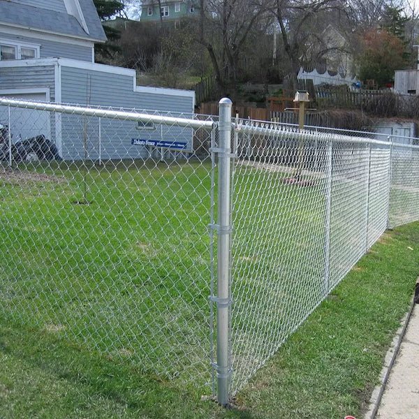 6 Foot Chain Link Security Fence 50x50mm For Agriculture Field Durable
