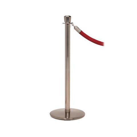 Elegance: Pewter Nickel Rope Stanchion With Profile Base