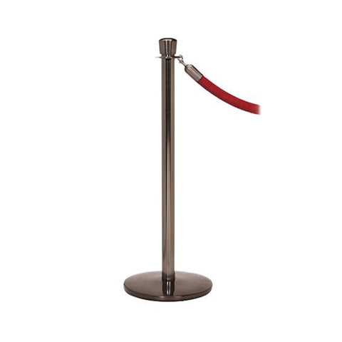 Elegance: Statuary Bronze Rope Stanchion With Profile Base