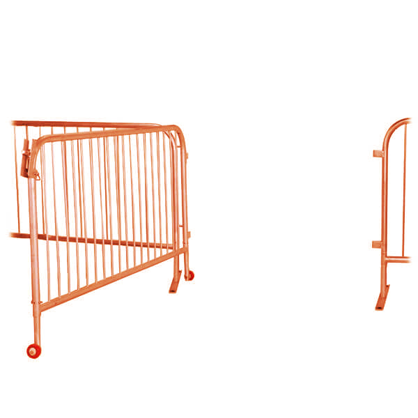 Orange 6.5ft Steel Large Barricade Gate