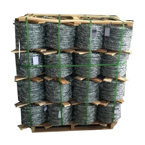 Low Carbon Steel Barbed Wire Fence Long Use Life Solarization Resistance