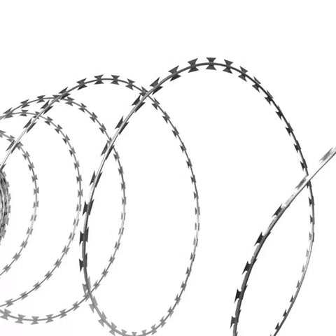 Modern Design Razor Wire Fence Stainless Steel Material Aging Resistant