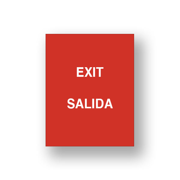 Red Exit/Salida (Double Sided Sign Insert)
