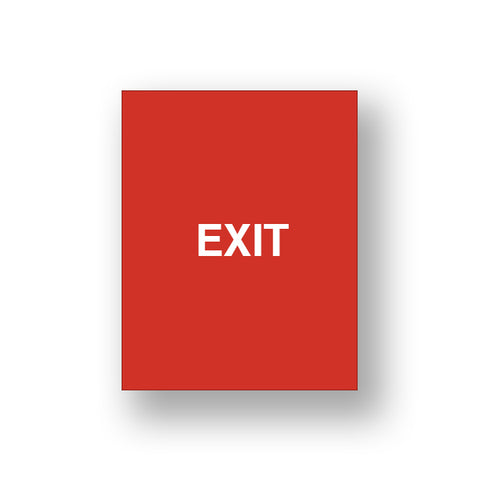 Red Exit/Exit Please Do Not Enter (Double Sided Sign Insert)