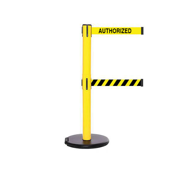 RollerSafety 250 Twin: 11-13ft Easy Deployment Retractable Belt Barrier