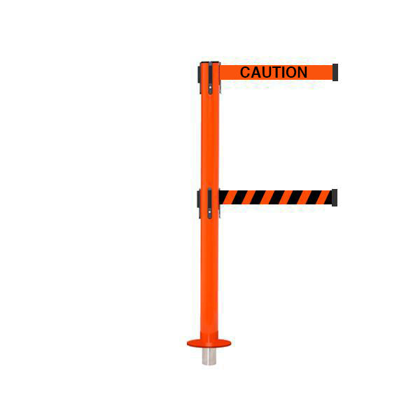 SafetyPro 300 Removeable Twin: 16ft Premium Safety Retractable Belt Barrier