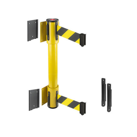 WallMaster 350 Twin Removeable: 7.5-10ft Twin Wall Mounted Retractable Belt Barrier