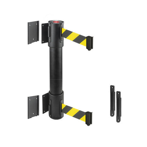 WallMaster 400 Twin Removeable: 13-15ft Twin Wall Mounted Retractable Belt Barrier