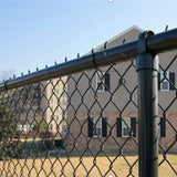 Green Vinyl Coated Chain Link Security Fence Excellent Rust Resistance