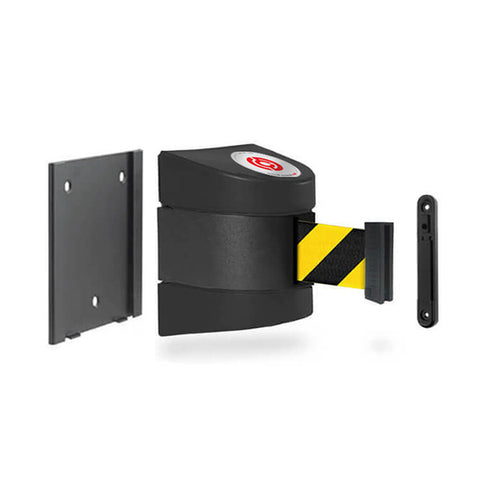 Removable WallPro 450: 20-35ft Wall Mounted Retractable Belt Barrier