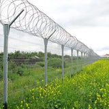 Practical Razor Wire Fence Easy Installation With Sharp Blades Rust Resistant