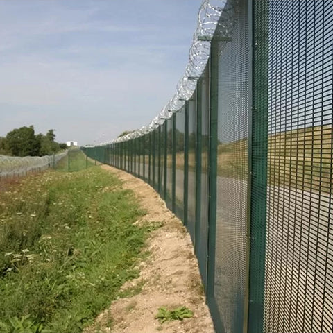Anti Cut 358 Security Fence Green Powder Coated For University Facilities