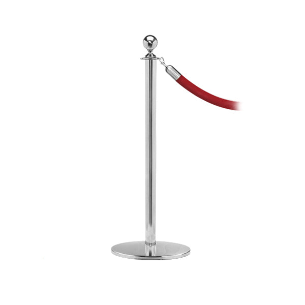 RopeMaster: Premium Ball Top Rope Stanchion With Profile Base