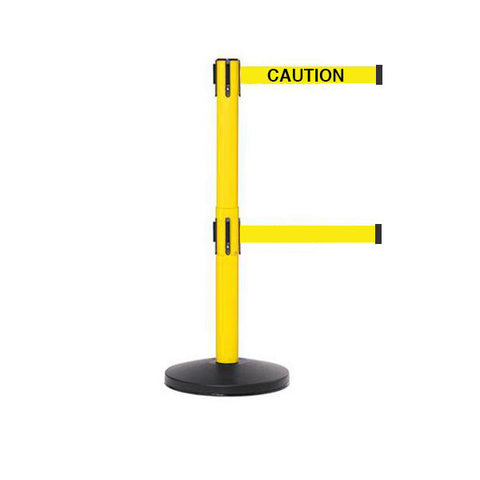 SafetyMaster Twin 450: 11-13ft Economy Safety Retractable Belt Barrier