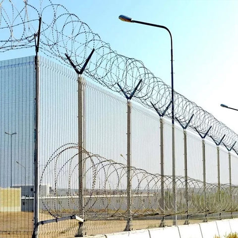 Sustainable 358 Anti Climb Fence , Galvanized Steel Wire Airport Security Fence