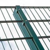 Vandal Resistant Wire Mesh Security Fence Heavy Duty Double Rod Type