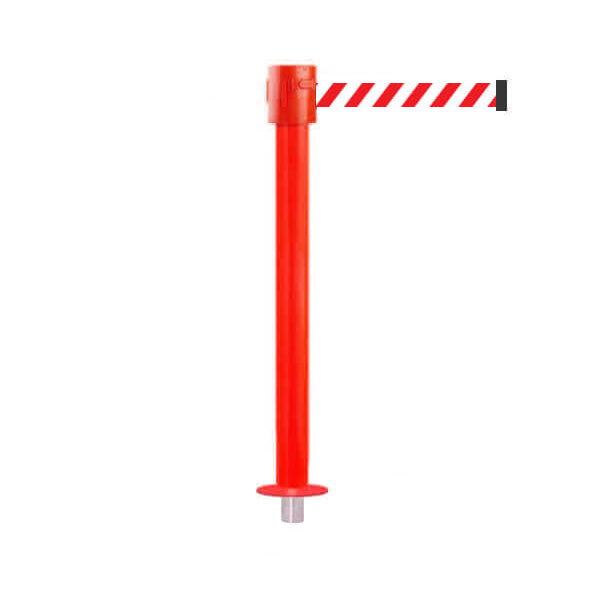SafetyPro 335 Removeable: 20-35ft Premium Safety Retractable Belt Barrier (Red)