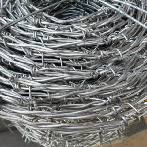 Customizable Twisted Barbed Wire , Firm Frame Steel Barbed Wire anti corrosion