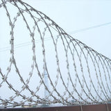 3 Clips 10m Length Cross Razor Wire , Custom Design Concertina Barbed Wire