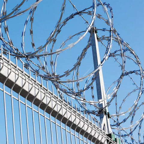 Military Razor Wire Fence High Strength Unique Appearence Convenient Installation
