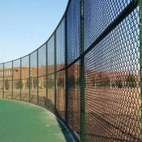 Baseball Field Use PVC Coated Chain Link Fence , Hot Dipped Galvanized Chain Link Fence