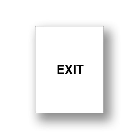 White Exit/Exit Please Do Not Enter (Double Sided Sign Insert)
