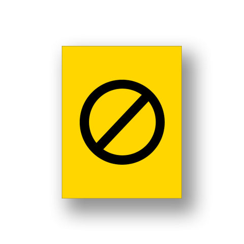 Yellow Crossed Out (Sign Insert)