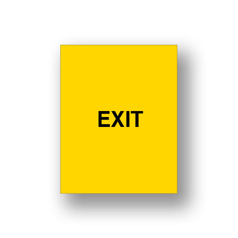 Yellow Exit/Exit Please Do Not Enter (Double Sided Sign Insert)