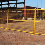 Yellow Powder Coated Construction 6mm Canada Temporary Fence