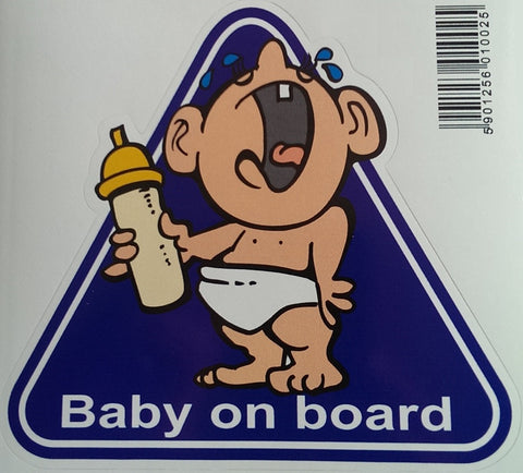 Funny Crying Baby on Board Decal Sticker