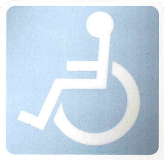 Handicapped Inside Window Decal